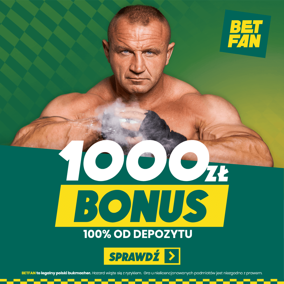1000 ZŁ BONUS 100% OD DEPOZYTU
